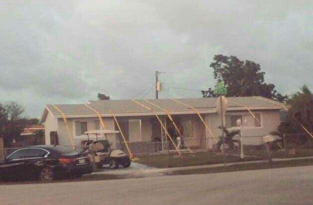 Protect a house during  Irma hurricane
