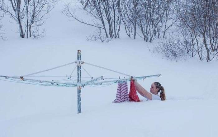 Snow Day in Russia}}