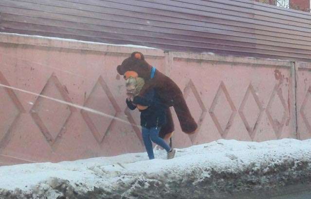 Masha and the bear - real life